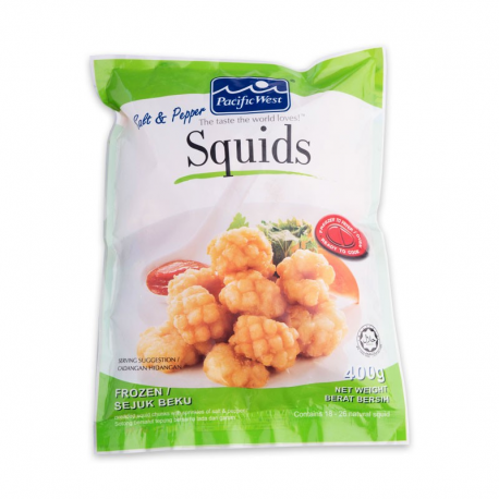 P.West Salt & Pepper Squids 400g