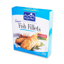 P.West Tempura Fish Fillet Retail 325gm