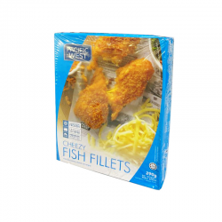P.West Tempura Cheezy Fish Fillet Retail 290gm