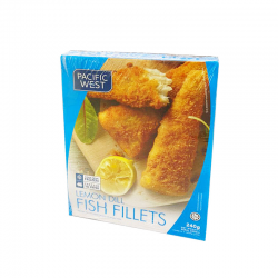 P.West Crumbed Fish Fillet Lemondill 240gm