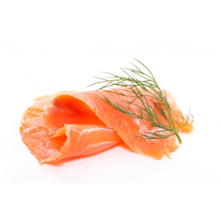 Smoked Salmon with Graved Lax, sliced