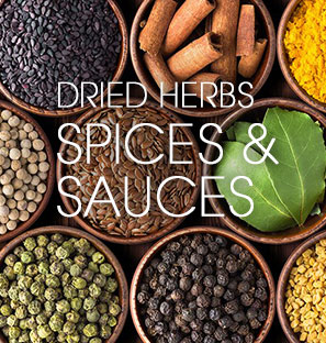 dried herbs spices and sauces